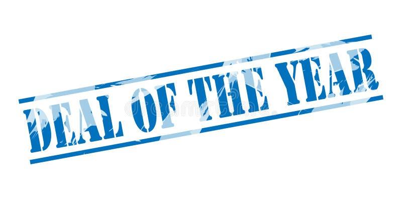 Abkommen des blauen Stempels des Jahres vektor abbildung