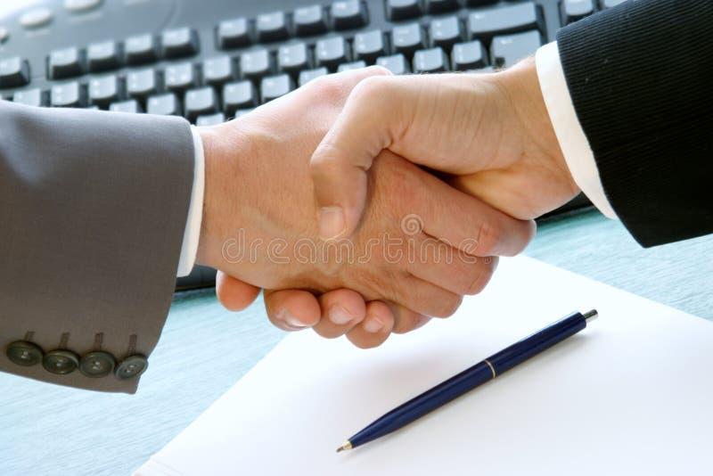Abkommen erfolgt stockfoto