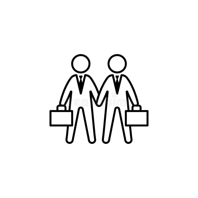 Abkommen, Händedruck, Geschäftsmannikone auf weißem Hintergrund Kann für Netz, Logo, mobiler App, UI, UX verwendet werden stock abbildung