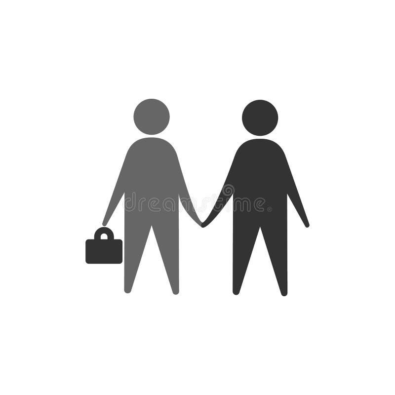 Abkommen, Händedruckikone Element der vermarktenden Ikone für mobile Konzept und Netz Apps Ausführliches Abkommen, Händedruck kan lizenzfreie abbildung