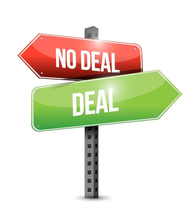 Abkommen, kein Abkommenzeichen stock abbildung