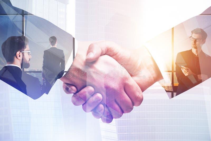 Abkommen und Teamwork-Konzept lizenzfreie abbildung