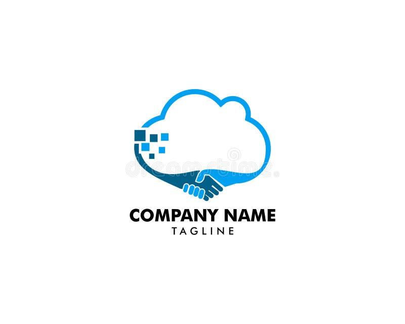 Abkommen-Wolke Logo Template Design stock abbildung