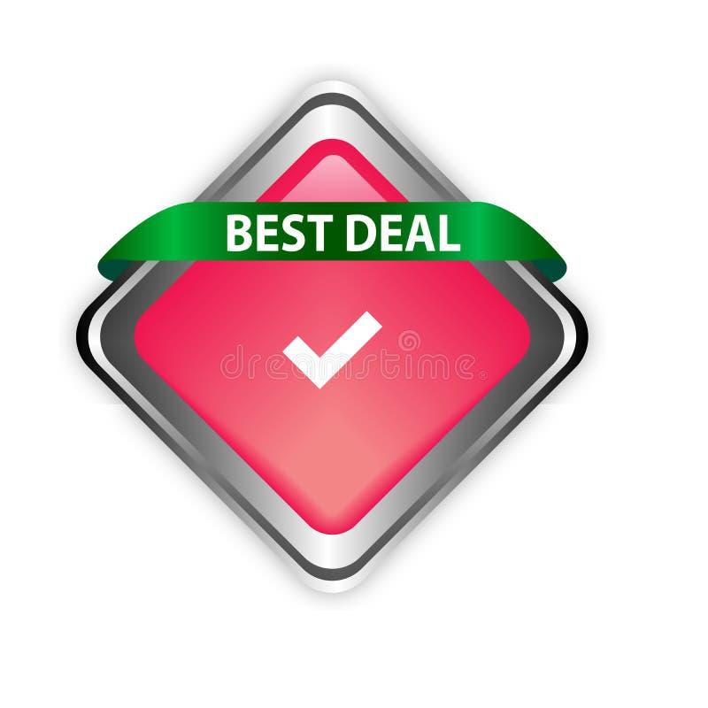 Abkommenknopfelementfarbnetzknopf des unterschiedlichen Entwurfs bester stock abbildung