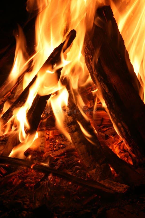 Ablazing fire royalty free stock photo