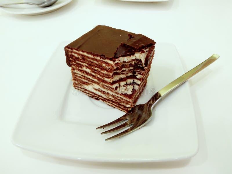 Ablegrujący Spartak tort na talerzu obrazy royalty free