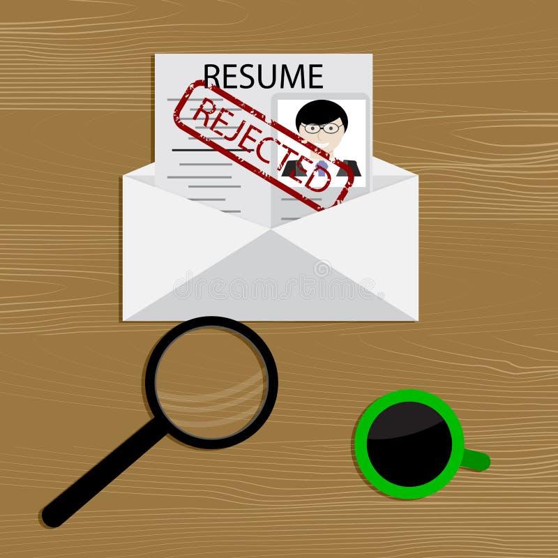 Ablehnung der Beschäftigung lizenzfreie abbildung