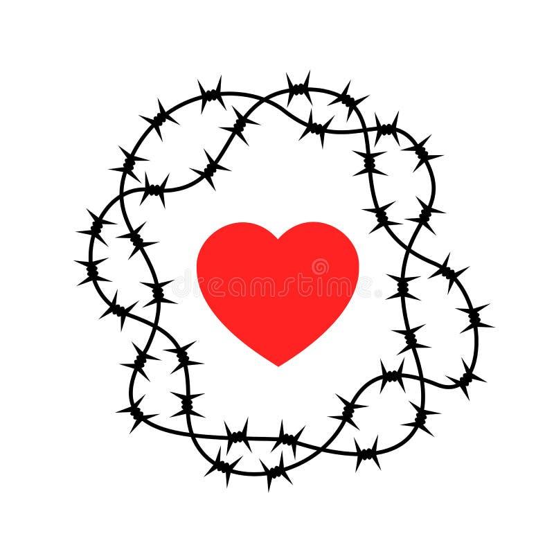 Ablehnung der Liebe lizenzfreie abbildung