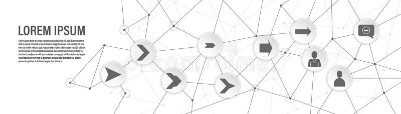 Ablehnung in einer Kommunikationsblasenikone Vom Netzsatz lizenzfreie abbildung