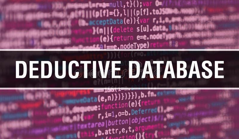 Ableitung des Datenbankkonzepts mithilfe von Code für die Entwicklung von Programmen und App Entschlüsselter Datenbank-Website-Co lizenzfreies stockbild