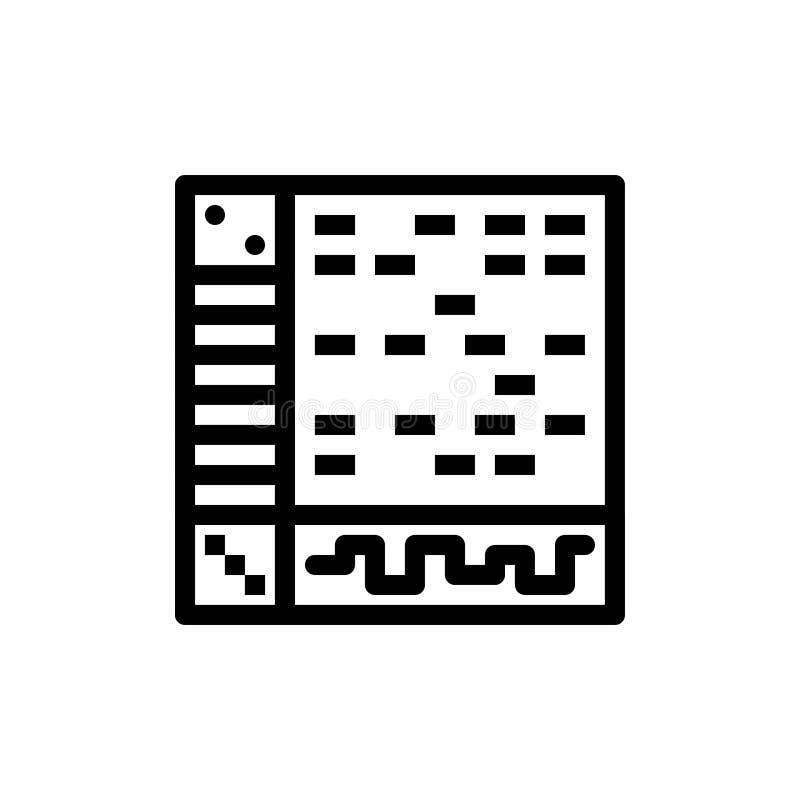 Ableton, Anwendung, Audio, Computer, Blau des abgehobenen Betrages und rotes Download und Netz Widget-Karten-Schablone jetzt kauf lizenzfreie abbildung
