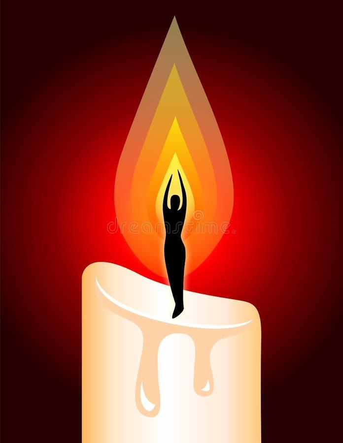 Ablichtungs-Meditation-Kerze stock abbildung