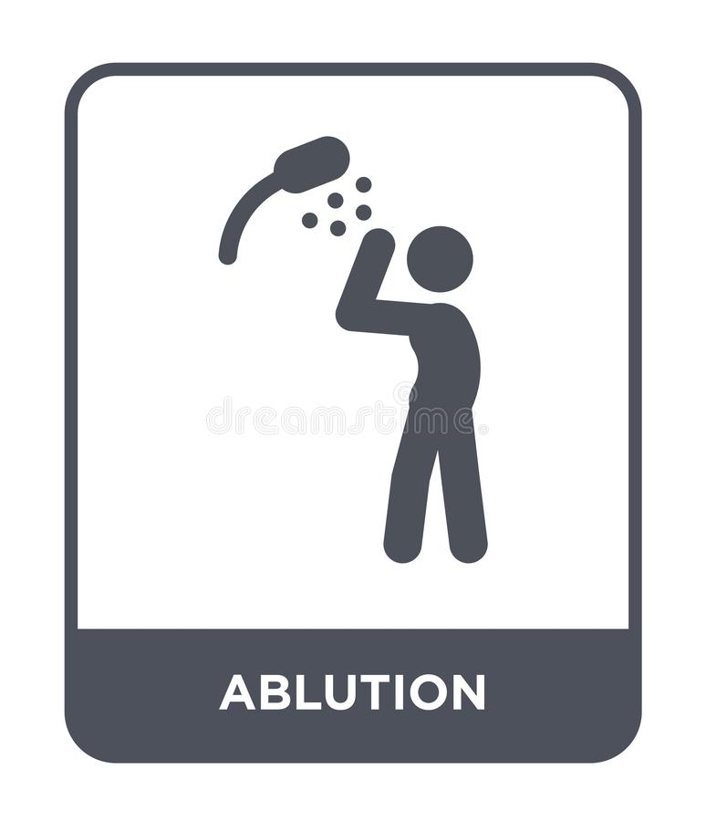 ablution icon in trendy design style. ablution icon isolated on white background. ablution vector icon simple and modern flat royalty free illustration