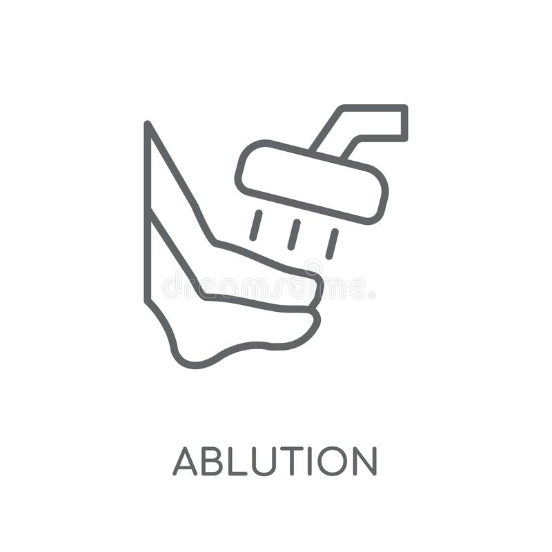 ablution linear icon. Modern outline ablution logo concept on wh royalty free illustration
