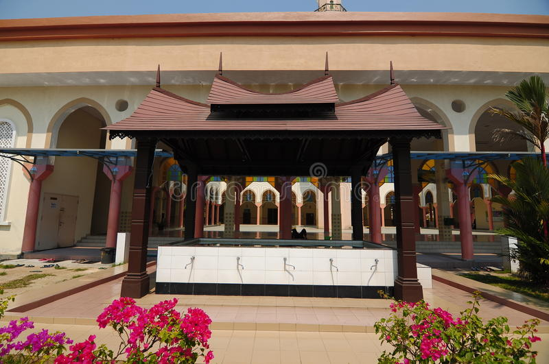 Ablution of Putra Nilai Mosque in Nilai, Negeri Sembilan, Malaysia. Negeri Sembilan, Malaysia – March 06, 2014: Putra Nilai Mosque was located at Nilai royalty free stock image