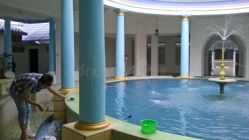 Ablution room at mosque royalty free stock photography