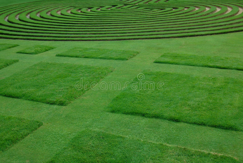 Ably trimmed lawn royalty free stock image