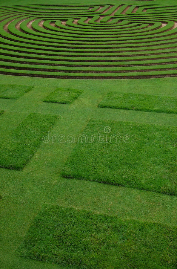 Ably trimmed lawn royalty free stock photos