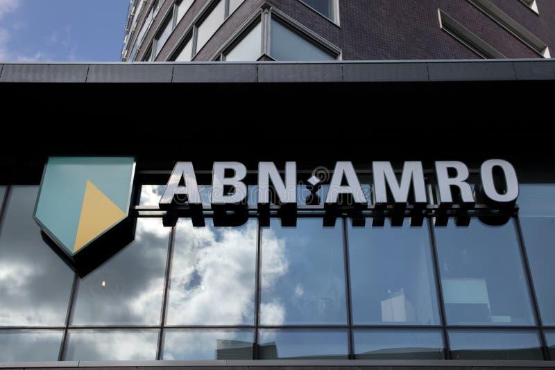 ABN AMRO bank på Amstelveen Nederländerna 2019 royaltyfria foton