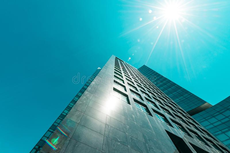 ABN AMRO Bank, Zuidas a Amsterdam, Claude Debussylaan, distretto aziendale fotografia stock