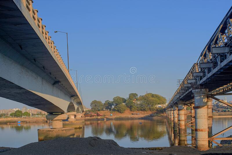 Abndand 1914 machte eine Brücke in der Nähe der neuen kalyan-bhiwandi-Straße maharashtra stockbild