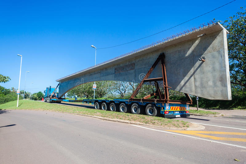 Download Construction Truck Trailer Bridge Section Editorial Image - Image: 34958935
