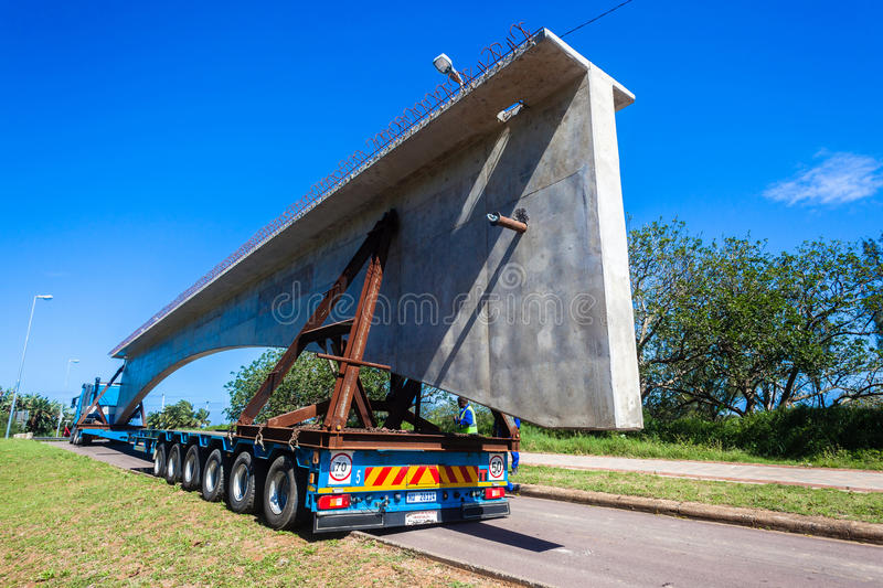 Transport Truck Trailer Concrete Load stock images