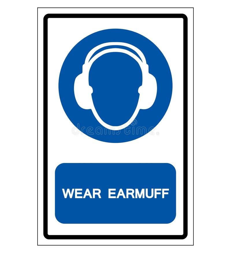 Abnutzungs-Ohrenschützer-Symbol-Zeichen, Vektor-Illustration, lokalisiert auf weißem Hintergrund-Aufkleber EPS10 vektor abbildung