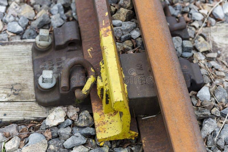 铁路螺栓 库存照片