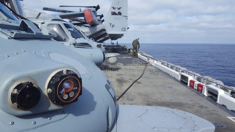 Aboard Naval Ship stock photo