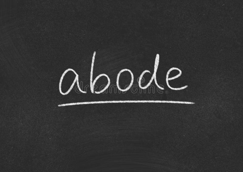 Abode. Concept word on blackboard background royalty free stock photography