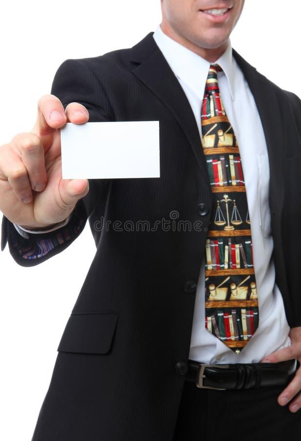 Abogado con la tarjeta de visita foto de archivo