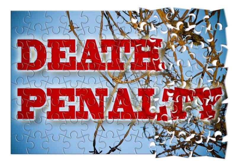 Abolição da pena de morte - imagem do conceito na forma do enigma imagens de stock royalty free