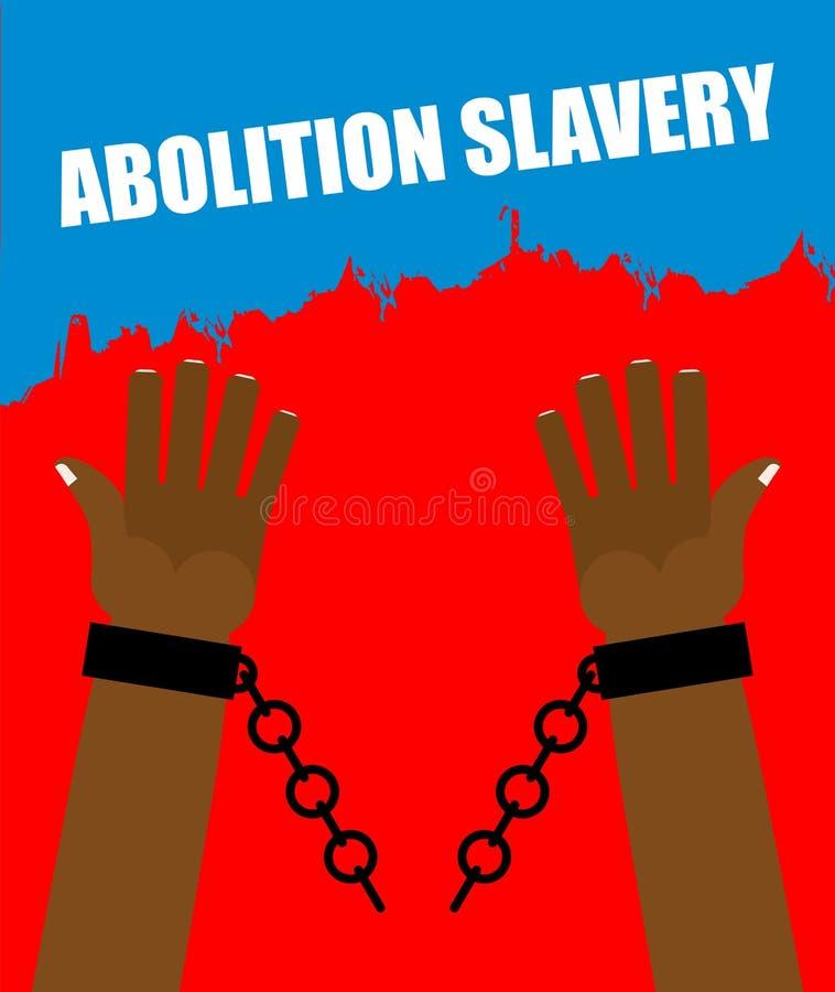 Abolition d'esclavage Esclave de bras avec les dispositifs d'accrochage cassés illustration libre de droits