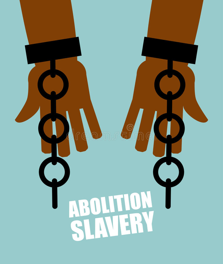 Free Abolition Of Slavery. Hands Black Slave With Broken Chains. Shattered Shackles. Broken Handcuffs. Long-Awaited Freedom. Stock Photos - 62193793