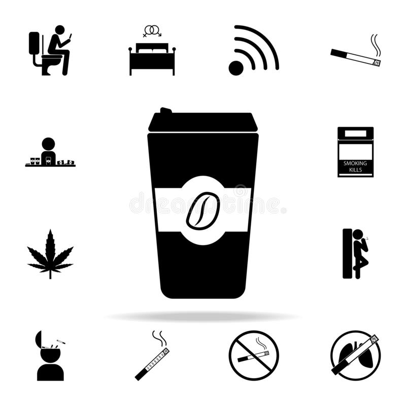 abondance d'icône de café Ensemble universel de mauvaises icônes de habbits pour le Web et le mobile illustration de vecteur