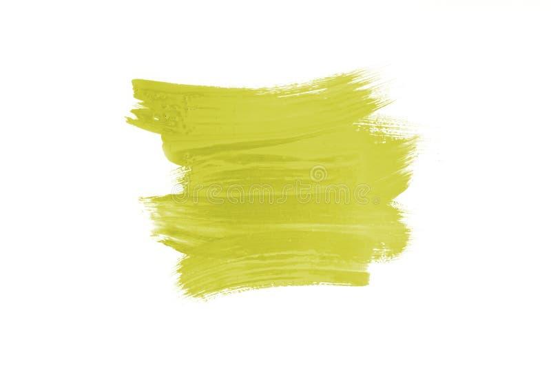 Abone el movimiento del cepillo con cal del extracto del color claro aislado en blanco imagenes de archivo