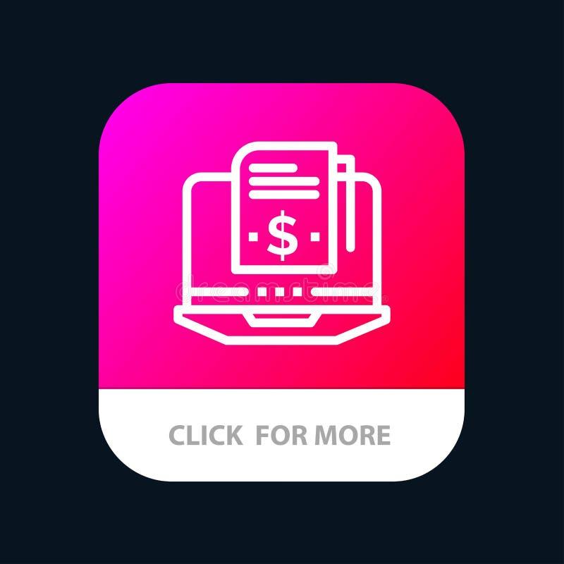 Abonnement, Model, Knoop van de Abonnements de Model, Digitale Mobiele toepassing Android en IOS Lijnversie vector illustratie
