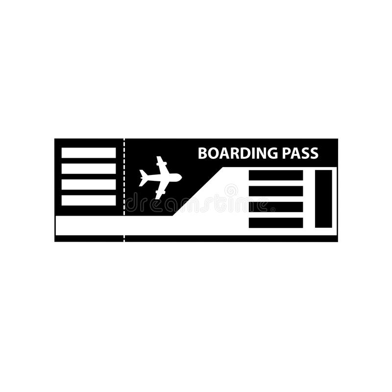 Abordaż przepustki biletowa ikona odizolowywająca na białym tle ilustracji