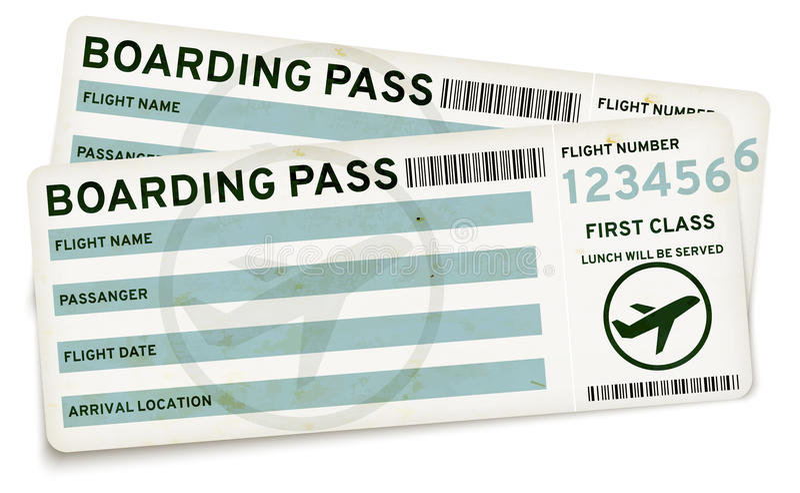 Abordaż przepustki bilety royalty ilustracja