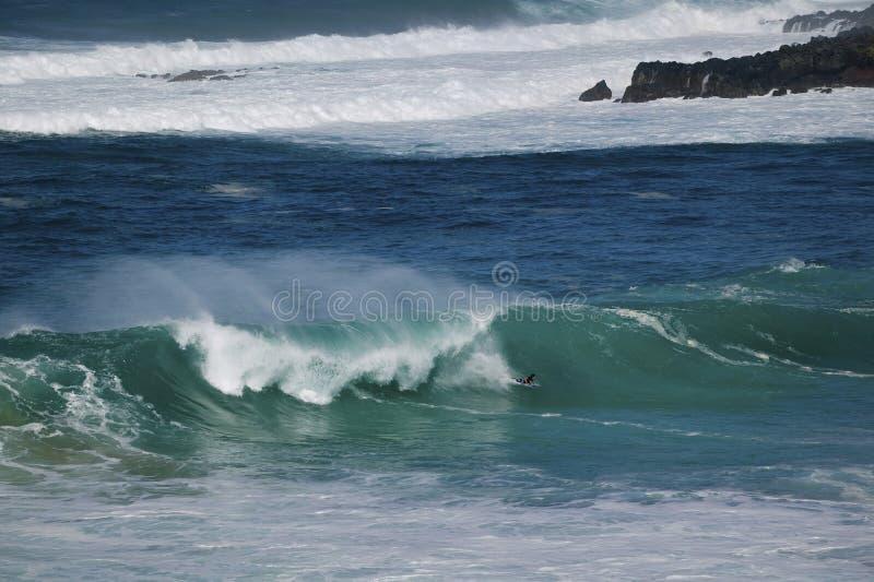 abordażu tana boogie Hawaii północny Oahu brzeg zdjęcie stock
