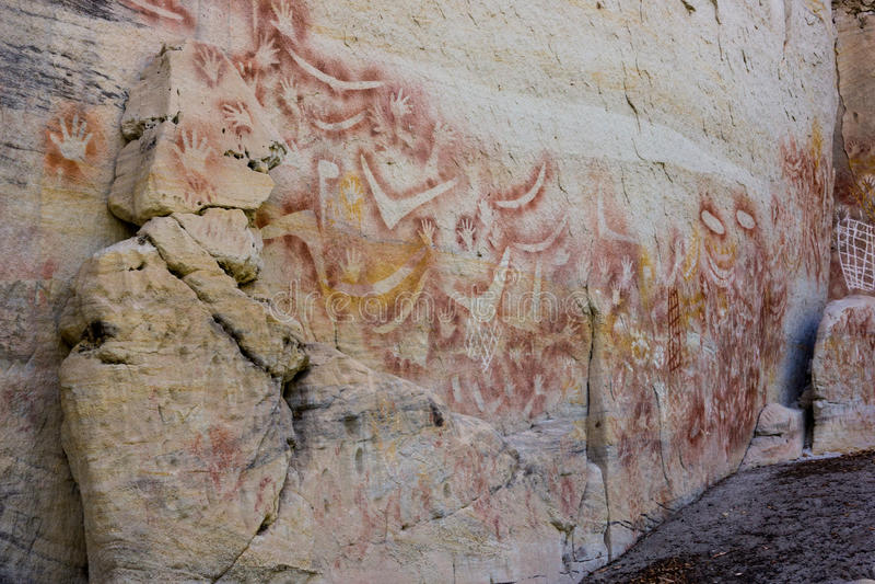 Aboriganal岩石艺术, Carnarvon峡谷 免版税库存照片