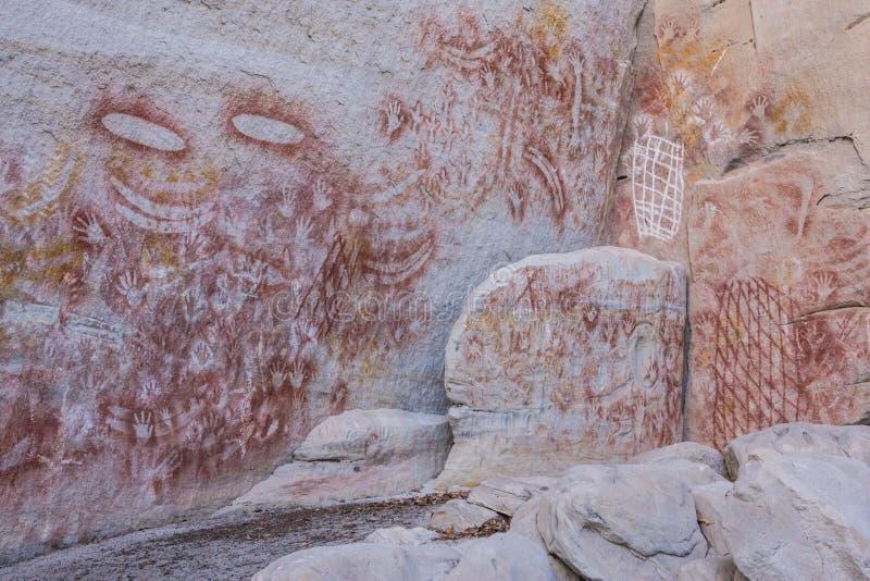 Aboriginal Rock Art, Carnarvon Gorge royalty free stock images