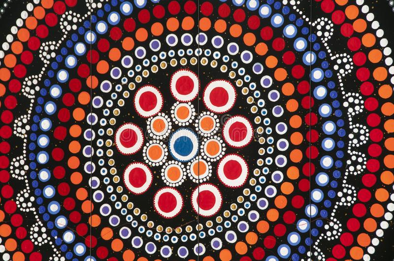 Aboriginal Art - Australia stock photography