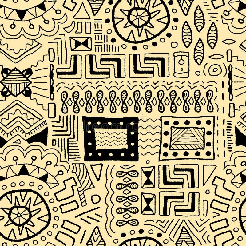 Aboriginal art. Background - indigenous African patterns seamless texture stock illustration