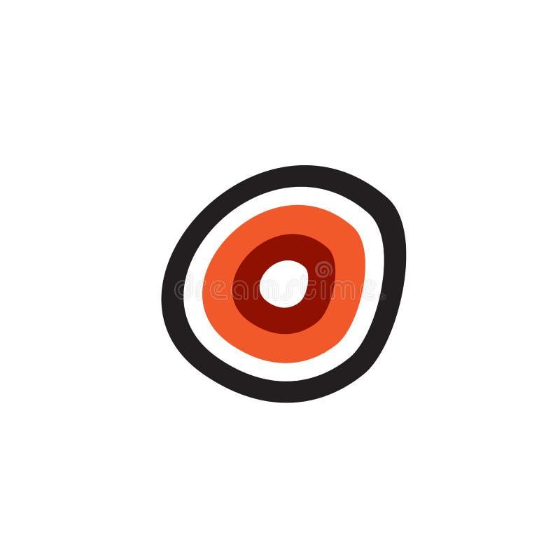 Aboriginal art dots painting icon logo design stock illustration