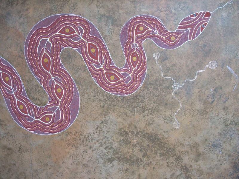 Aboriginal art. Indigenous Australian art (also known as Aboriginal art) is art made by Indigenous Australians royalty free illustration