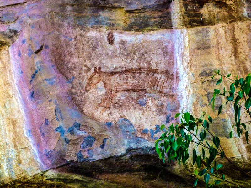 Download Aboriginal Art stock image. Image of sandstone, tiger - 60412773