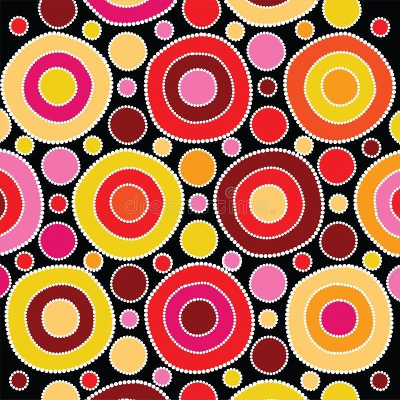 Aboriginal art vector background. stock illustration