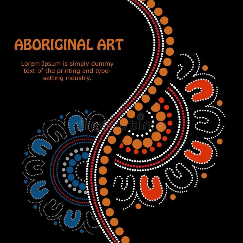 Aboriginal art vector Banner. Illustration based on aboriginal style of banner vector illustration
